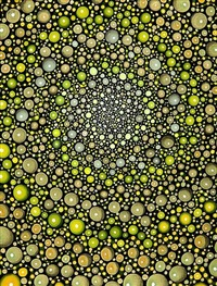 yellow spiral (section) by barbara takenaga