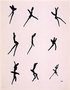 series drawings by henri michaux