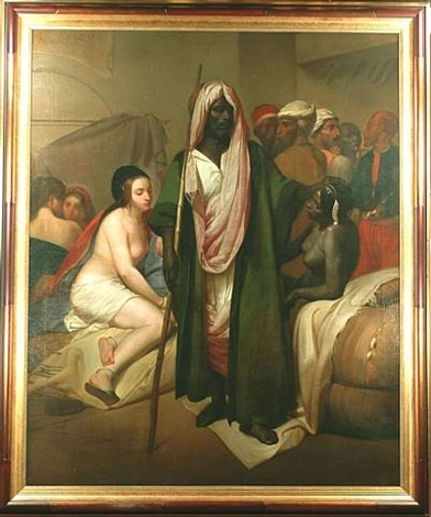 """le marchand d'esclaves"" the slave merchant by emile jean horace vernet"