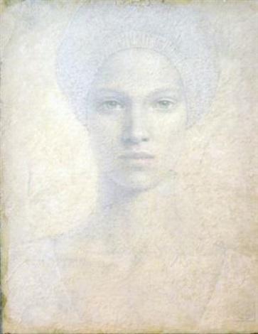 woman with hidden hair by victor koulbak