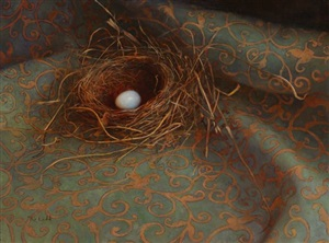 blue egg by rosemary ladd (sold)