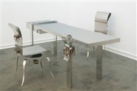 desk and chair by maria pergay