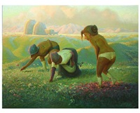 the flower patch girls by andrew foster