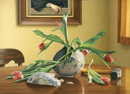 broken vase by d.p. brown