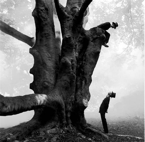 twins in tree by rodney smith