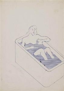 untitled (frau in badewanne) by sigmar polke