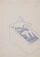 untitled (frau in badewanne) by sigmar polke