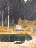 the pond in the woods by henry bayley snell