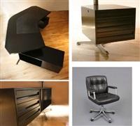 t96 desk and p126 armchair by osvaldo borsani