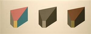 forms derived from a cube in colour (simple & superimposed) & black & grey) 1 by sol lewitt