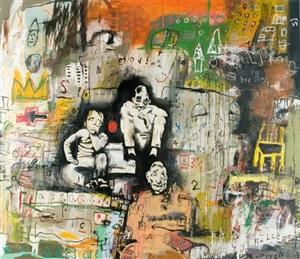 mixed media on canvas by von kommanivanh