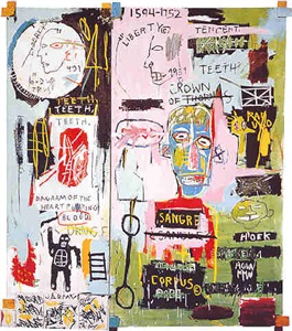 picasso bacon basquiat by jean-michel basquiat