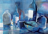 blue still life by bernhard vogel