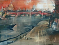 blackfrairs bridge with st. pauls london by bernhard vogel