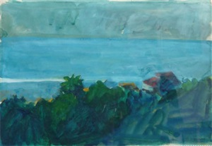 view of the sea from malibu by paul john wonner