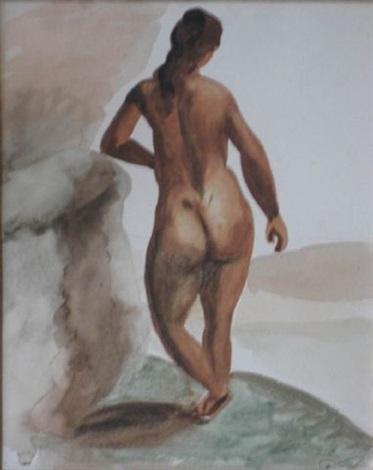 nu de femme de dos by andré derain
