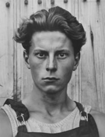 young boy, gondeville, charentes, france by paul strand