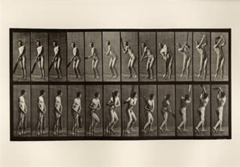 cricket, batting and drive by eadweard muybridge