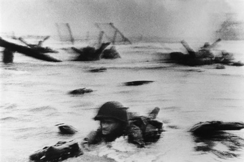 d-day landing, omaha beach by robert capa