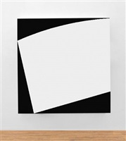 white curved relief by ellsworth kelly