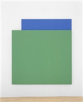 green relief over blue by ellsworth kelly