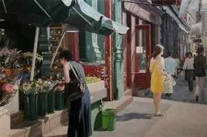 the yellow dress by vincent giarrano (sold)