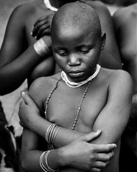 the pygmies, young bachimbiri girl, uganda by george rodger