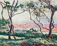 port de marseille, du haut des jardins de la colline by charles camoin
