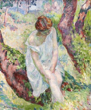 madame lebasque à saint tropez by henri lebasque