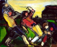 football game by albert kresch