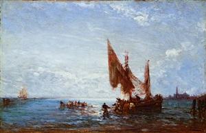 pêcheurs au petit matin à chioggia by félix ziem