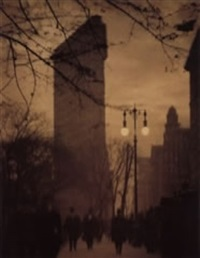 the flat iron building, evening by alvin langdon coburn