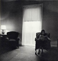 lady in a rooming house parlor, albion, ny by diane arbus