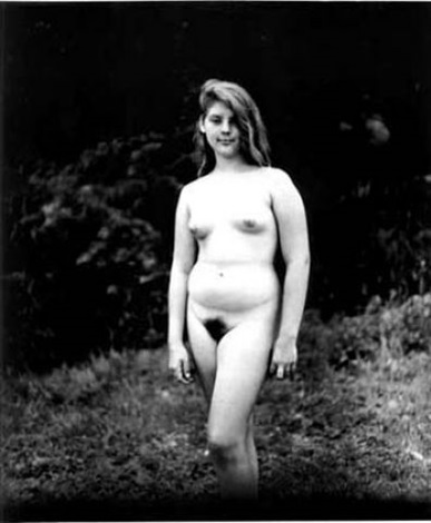 a young girl at a nudist camp, pa by diane arbus
