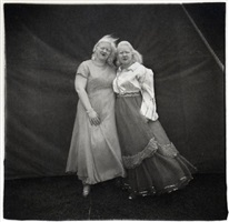 albino sword swallower and her sister, md. by diane arbus