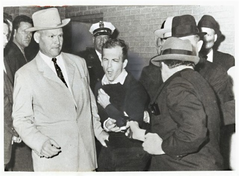 lee harvey oswald being shot by jack ruby, dallas, november 24, 1963 by robert h. (bob) jackson