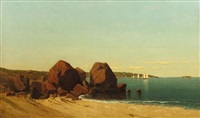 half moon cove at gloucester bay by james renwick brevoort