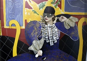 the history of hats in art (fashion series for the ny times): matisse/lunettes dior by joel-peter witkin