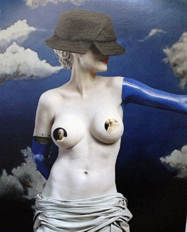the history of hats in art (fashion series for the ny times): magritte/vuitton by joel-peter witkin