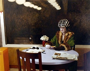 the history of hats in art (fashion series for the ny times): hopper/prada by joel-peter witkin