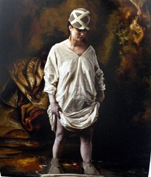 the history of hats in art (fashion series for the ny times): rembrandt/balenciaga by joel-peter witkin