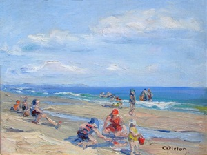 beach life #9, ogunquit, maine by anne carleton