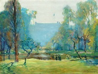 the boston commons, summertime by arthur clifton goodwin