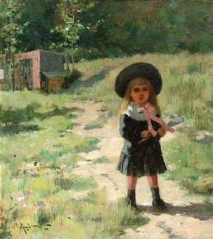 waiting in the lane, along the sunny path by clement rollins grant
