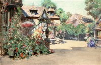summer afternoon, inn of william the conqueror, normandy by francis hopkinson smith