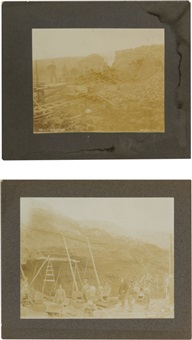 alaska yukon mining photos (2 works) by henry goetzman