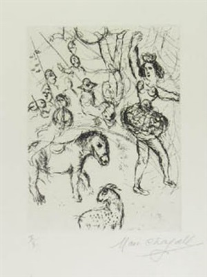 au cirque, le poney by marc chagall