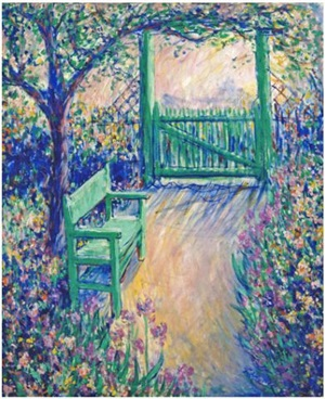 butlers garden (green chair) by theodore earl butler