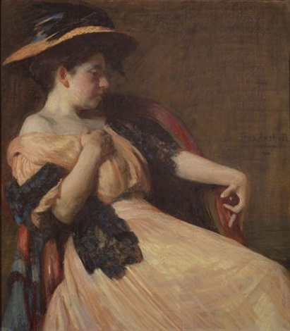 portrait of helen thurlow by thomas anshutz