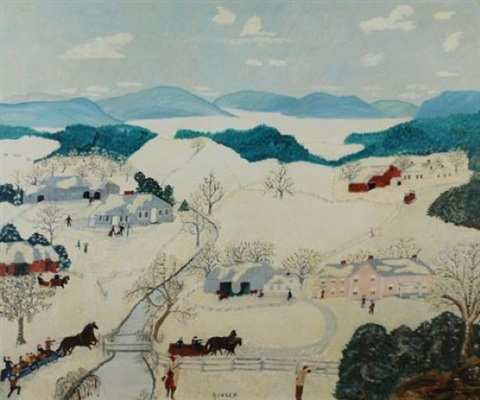 going to grandma's by grandma moses